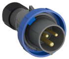 2CMA101095R1000 Easy & Safe Series, IP67 Blue Cable Mount 2P+E Industrial Power Plug, Rated At 32A,