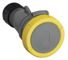 2CMA101141R1000 Easy & Safe Series, IP67 Yellow Cable Mount 2P+E Industrial Power Socket, Rated At 3