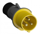 2CMA101946R1000 Easy & Safe Series, IP44 Yellow Cable Mount 2P+E Industrial Power Plug, Rated At 16A