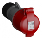 2CMA102023R1000 Easy & Safe Series, IP44 Red Cable Mount 3P+N+E Industrial Power Socket, Rated At 16