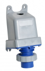 2CMA167044R1000 IP67 Blue Surface Mount 2P+E Right Angle Industrial Power Socket, Rated At 16A, 200