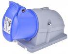 2CMA193122R1000 Easy & Safe Series, IP44 Blue Wall Mount 2P+E Right Angle Industrial Power Socket, R