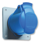 2CMA193170R1000 Easy & Safe Series, IP44 Blue Panel Mount 2P+E Industrial Power Socket, Rated At 16A