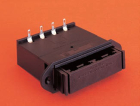 BATTERY HOLDER, PANEL MOUNT AA SIZE, 4 CELLS, DRAWER