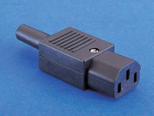 PX0587 IEC CONNECTOR, REWIREABLE STRAIGHT FEMALE CONNECTOR