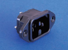PX0590/63 IEC CONNECTOR, FLANGE MOUNT 6.3MM TABS, HOT CONDITION