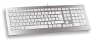 CORDED KEYBOARD SILVER