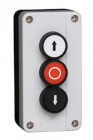 3 Pos Push Button Station: Up, Down & Stop 2NO+1NC Cont