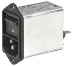4302.5335 4A,250 V ac Male Screw IEC Filter 2 Pole, Quick Connect